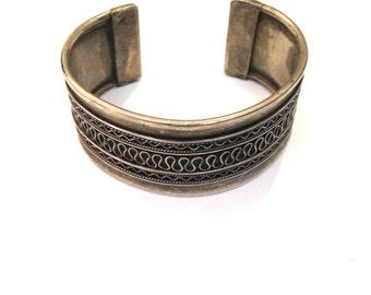 Vintage bracelet retro bracelet Tribal bracelet silver bracelet Boho bracelet Stackable bracelet cuff Bracelet hippie bracelet festival