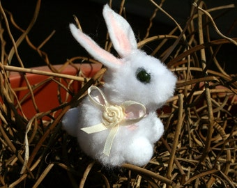 White Pompom Bunny