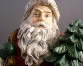 Winter Woodland Santa Resin Figurine