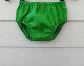 Bloomers Newborn - 24 months Green Cotton Diaper Cover