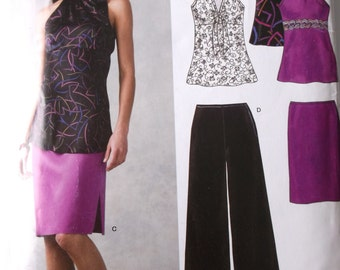 New Look Simplicity 0516 Misses Top,Skirt,Pants Pattern Size 6-16