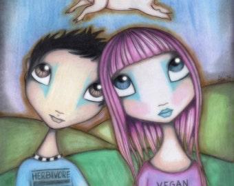 Vegan Love 2015 - 8x10 Signed Print