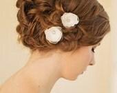 Bridal Hair Pins | Bridal Small Hair Flower | Wedding Hairpiece | Wedding Hair Accessories [Eden Hairpin]
