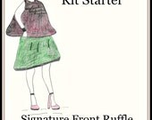 Plus Size Sewing Pattern-Sewing Kit-Designer Nursing Cover-Pre Cut Fabric Pattern-Carry Bag-Signature Front Ruffle Style-Custom Color-Bonus