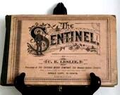 The Sentinel - C.E. Leslie - 1885 Antique Songbook & Catalogue - Fair Condition