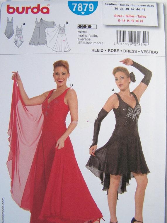 Patron de couture burda 7879 robe de danse de salon salle de for Couture de salon