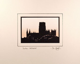 Durham Cathedral Hand Cut Papercut