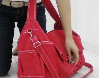 Back To School SALE - 20% OFF Classic in Red / diapers bag / Crossbody / Hobo / Shoulder Bag / Purses / Handbags / women / For her