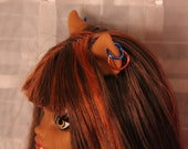 10 LARGE size Colored Hoop Earrings for Monster Type  Dolls with Animal Ears 31 colors Made When Ordered