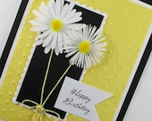 Daisy, daisies, birthday card, embossed birthday card, for her, PERSONALIZED card
