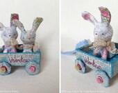 Paper Mache Original - Folk Art - Artwork Original - Art Ornament - Mixed Media - OOAK - by Emma Talbot of The Little Brown Rabbit