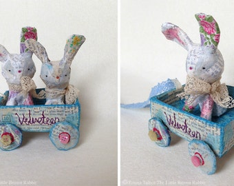 Paper Mache Original - Folk Art - Artwork Original - Art Ornament - Mixed Media - OOAK - by Emma Talbot of The Little Brown Rabbit