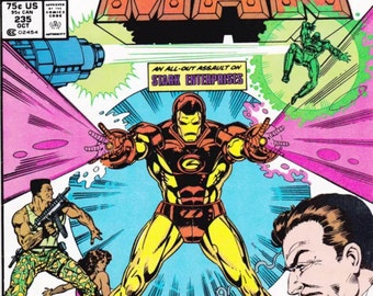 1988 IRON-MAN Issue 235 Comic Book