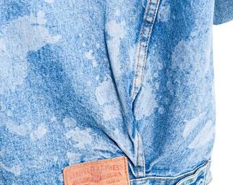 The Custom Lasered Splatter Print Express Denim Jacket