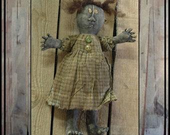 Bizzy Lizzy primitive folk art doll instant download digital pattern HAFAIR OFG FAAP