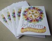Bloom: 5-pack folded cards & envelopes, blank inside, original art print