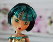 High Fashion Monster Doll, One of a Kind Repaint, Altered Doll, Regal Beauty, Custom Art Doll