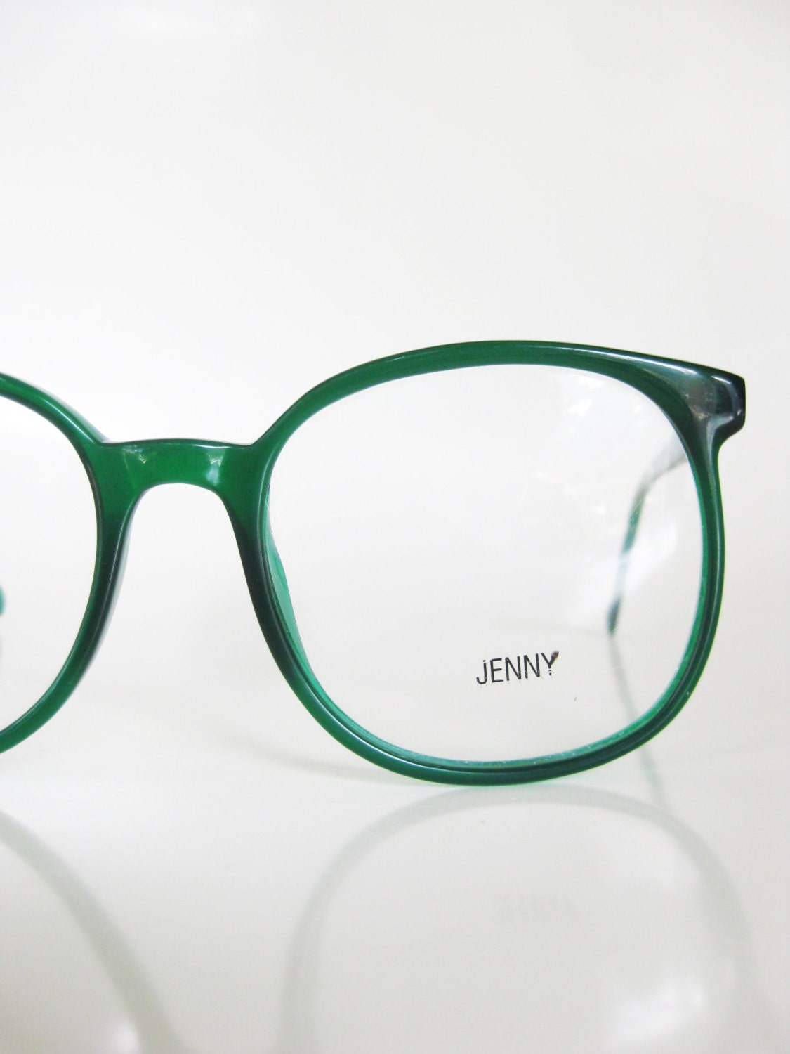 1970s Round Emerald Green Eyeglasses Sunglasses by ...