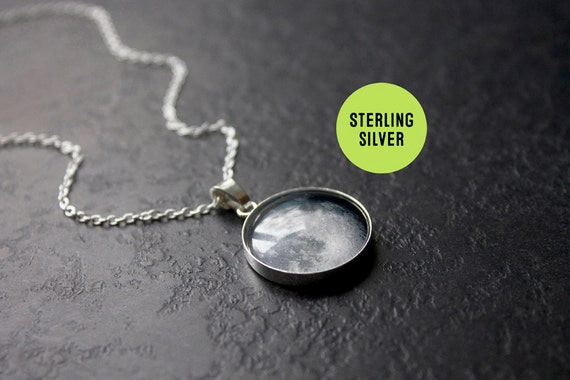 custom sterling silver birth moon necklace personalised