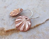 Small sunburst copper earrings rustic wedding jewelry bridesmaid gift idea gifts for her handmade jewelry handstamped earrings metalwork