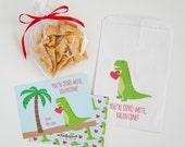 Dinosaur Valentine Cards - Dinosaur Valentines - Dino Valentines - T-Rex Class Valentines - Dino Valentine Cards