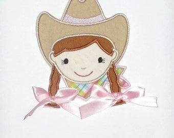 """Embroidered Iron On """"Cowgirl"""""""