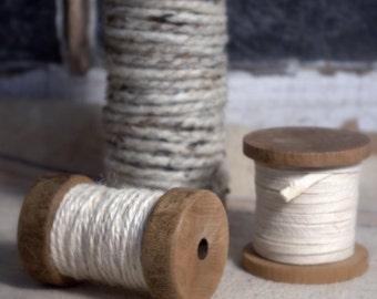 SALE! Set of Three Spools * Yarn * Jute * Cording