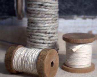 Set of Three Spools * Yarn * Jute * Cording