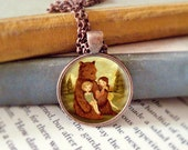 Bear Pendant, Bear Necklace, Bear Jewelry, Bear Animal Necklace, Animal Art, Animal Jewelry, Kids Jewelry Children - The Story Book Bear