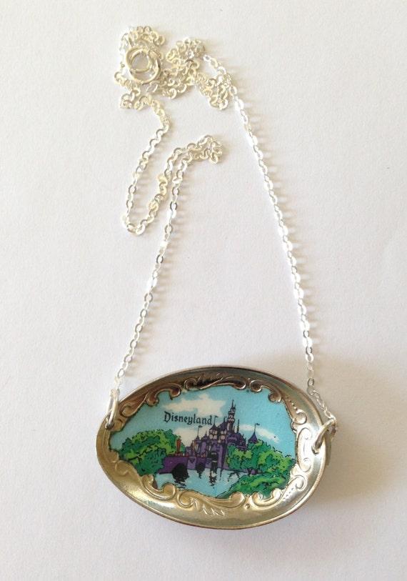 disneyland necklace disney castle necklace disney by georginabaker