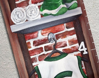 Canvas Growth Chart Canvas Painted Basketball Team Locker