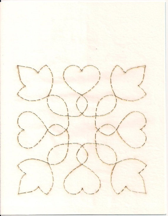 Leaves Entwined Channel cut Paper Quilt Stencil Machine