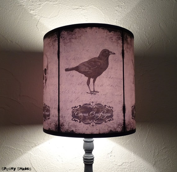 Raven crow lamp shade lampshade halloween curiosities gothic like this item aloadofball Gallery