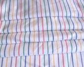 2.58 yards VTG fabric: Wool, white striped