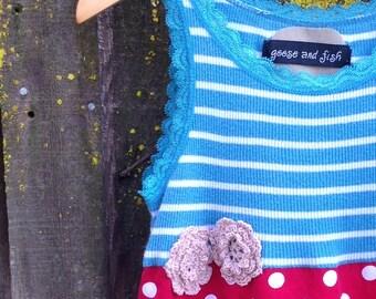 Upcycled girls dress size 4