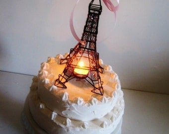 Eiffel Tower Paris Chandelier Cake Topper MADE TO ORDER