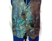 Men's vest,Steam punk Mens Vest,Victorian Wedding Vest,Men's Wedding Vest, Men's Cosplay Vest, Golthic Men's Vest, Made To Order Men's Vest