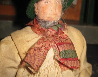 Liberty of London Doll, 1850's Gentleman in working Shirt/Smock, Artist, Writer, Historical Figure