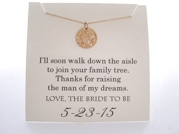 Mother Of Groom Gift Ideas For Bride : Mother of The Groom Necklace Mother of the Groom Gifts