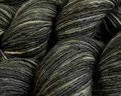 Hand Dyed Yarn - DK Weight Superwash Merino Wool Singles Yarn - Slate Grey Tonal - Knitting Yarn, Wool Yarn, Single Ply Yarn, Grey Gray