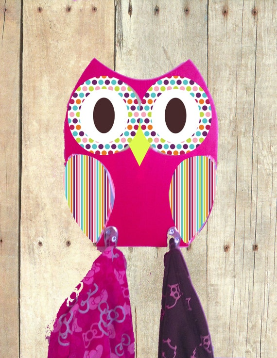 Items Similar To Owl Towel Rack Wooden Owl Kids Towel Rack