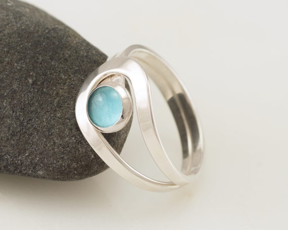 Blue Topaz Ring, Sterling Silver Blue Topaz Ring, Blue Topaz jewelry, Gemstone Ring- Sterling Silver Stone Ring- December birthstone