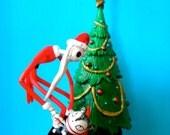 Santa Jack and Teddy Custom Christmas Ornament