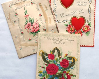 1940's Thinking of You Romantic Cards