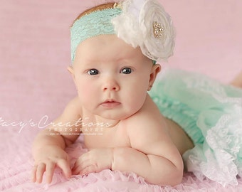 More Colors. Chicaboo Lola Lace Headband, Great photo prop for newborn or everyday headband for toddler