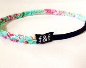 Fashion Headband, Faith and Fit Scrappy Band in Vintage Teal Floral