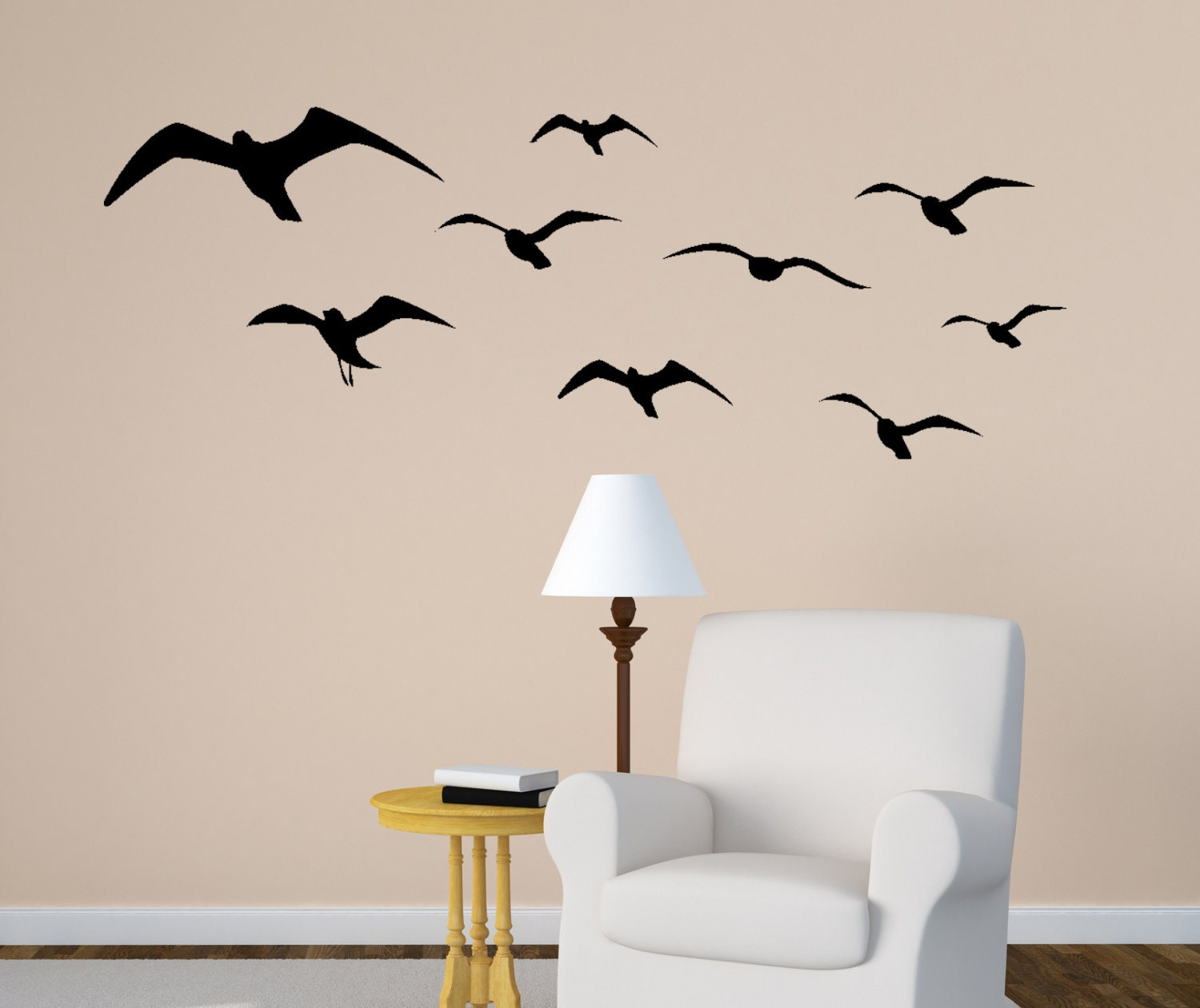 Seagull wall decal flying birds sticker sea bird flock zoom amipublicfo Image collections