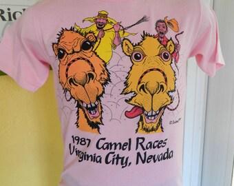 1987 Camel Races Virginia City Nevada vintage tee shirt - size medium
