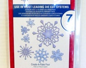 Snowflake builder die Spellbinders S4-365 shapeabilities create A Flake Four Die Templates scrapbooking or card making Christmas holidays