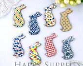 8Pcs Mini Handmade Vintage Rabbit Charms / Pendants (CWL05)